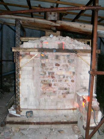 Salt Glaze Archive - Salt Kiln firing at night